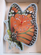 Butterfly Hand Made Wooden Clock